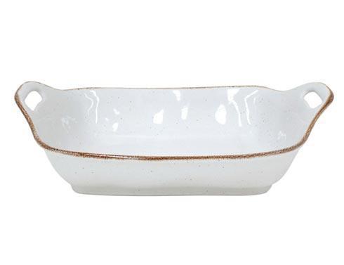 "Casafina  Sardegna - White Rect. Baker 16"" $65.00"