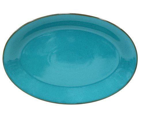 "Casafina  Sardegna - Blue Oval Platter 18"" $78.50"