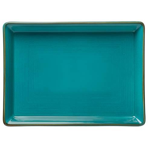 "Casafina  Sardegna - Blue Rect. Platter 18"" $97.00"