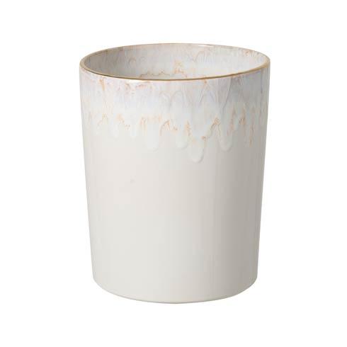 "Casafina  Taormina Bath Waste Basket 10"" White and Gold $126.00"