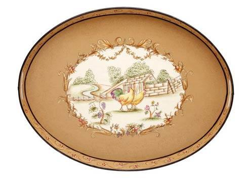 Casafina  Toleware Trays  Oval Tray, Chanticleer $103.50