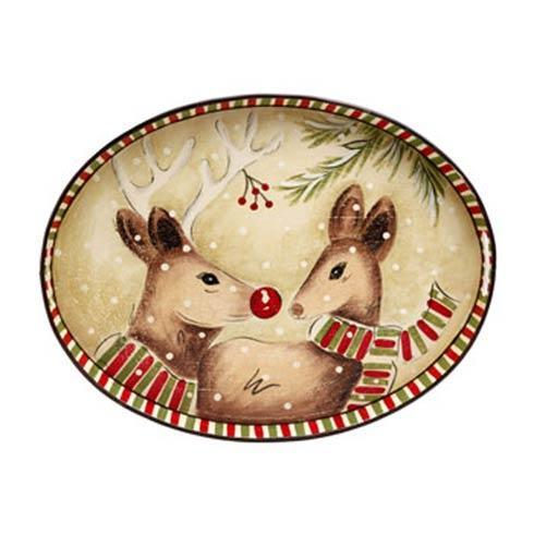 Casafina  Toleware Trays  Oval Toleware Tray, Deer Friends $93.50