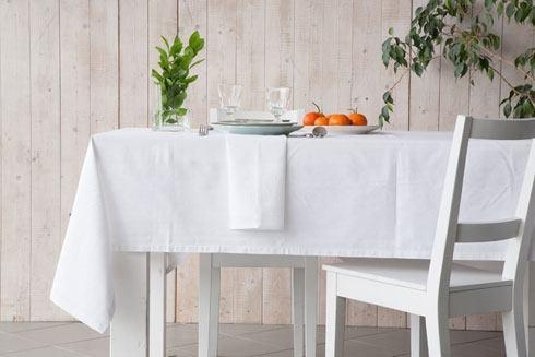 "Costa Nova  Ana - White Table Cloth 68"" X 118"" $150.00"