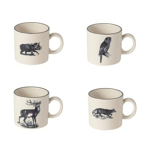 $79.00 Fauna Set 4 Mugs 12 oz.