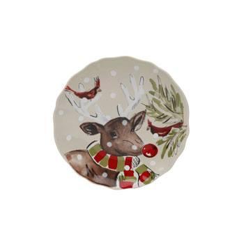 Casafina  Deer Friends Canape Plate $22.50