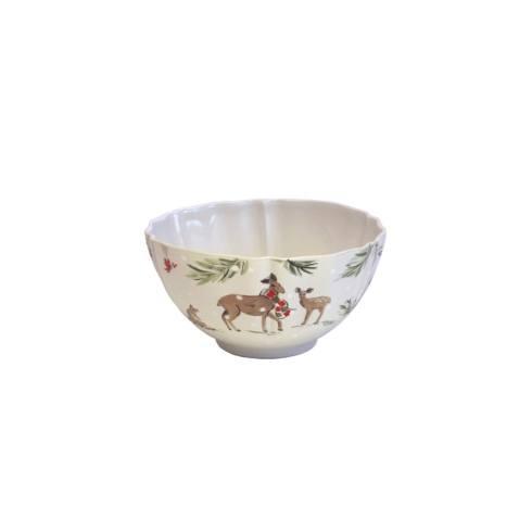 Casafina  Deer Friends Soup/Cereal Bowl, White $30.00
