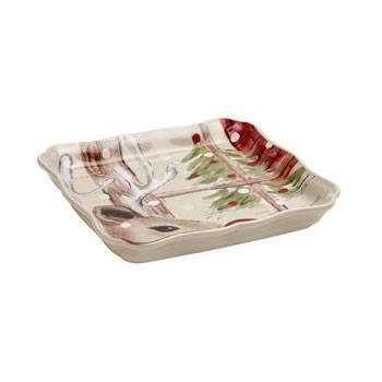 Casafina  Deer Friends Square Tray $25.00