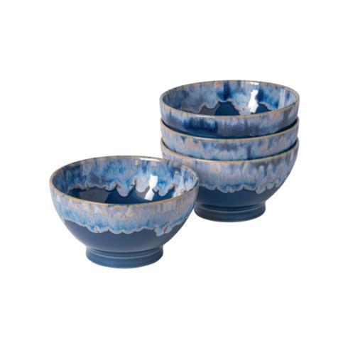"Costa Nova  Latte Bowls Collection Set 4 Latte Bowls 6"" Denim $49.00"