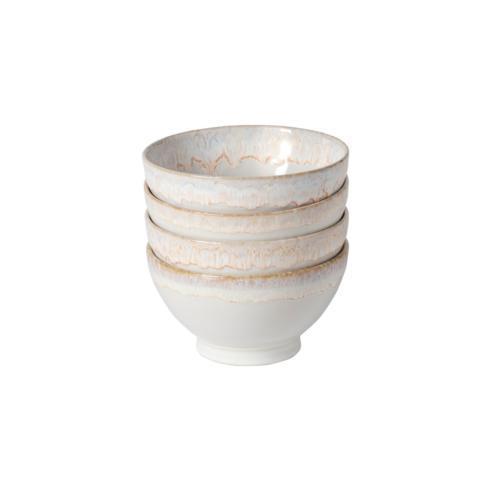 "Costa Nova  Latte Bowls Collection Set 4 Latte Bowls 6"" White $49.00"