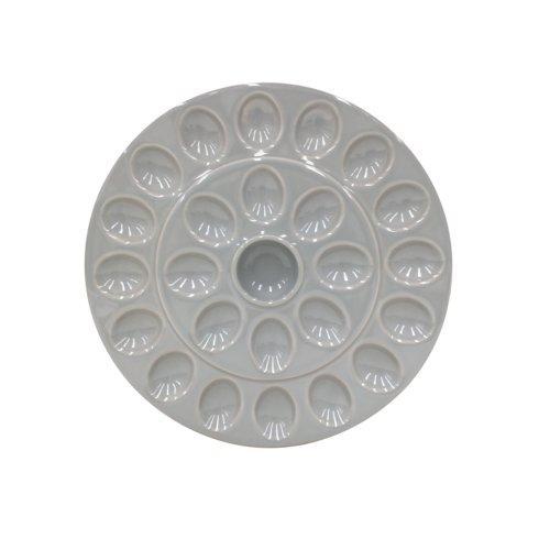$49.00 Egg Platter, Gray
