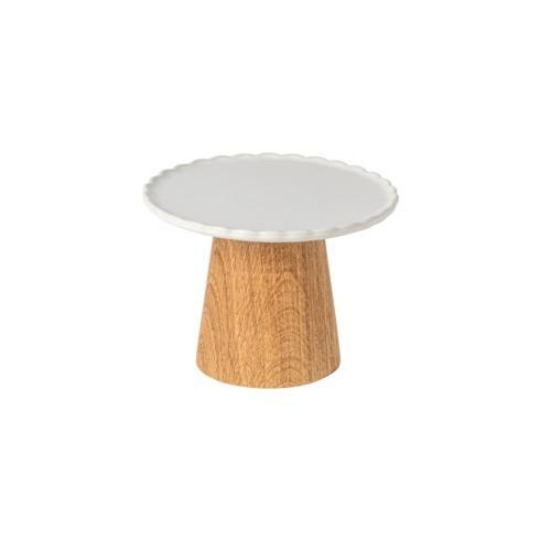 """$39.00 Footed Plate 6"""" w/ Wooden Stand"""