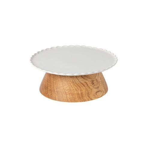 "$63.50 Footed Plate 8"" w/ Wooden Stand"