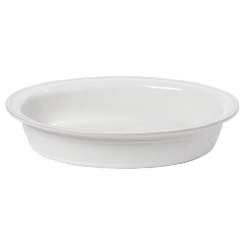 "Casafina  Fontana - White Oval Baker 16"" $68.00"