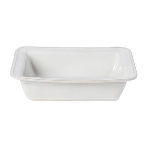 "Casafina  Fontana - White Rect. Baker 12"" $53.00"