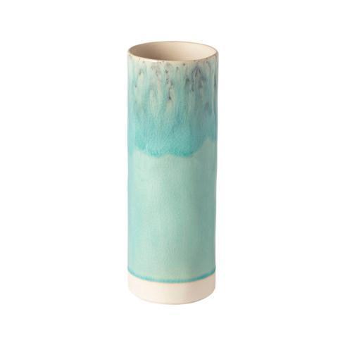 "Costa Nova  Madeira - Blue Cylinder Vase 10"" $64.00"
