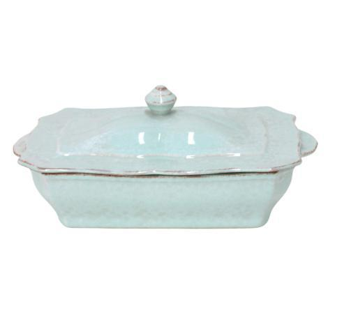 Casafina  Impressions - Robin's Egg Blue Rect.Covered Casserole $79.25