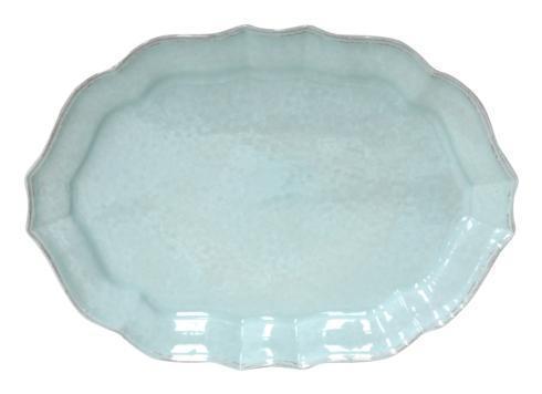 """Casafina  Impressions - Robin\'s Egg Blue Oval Platter 18"""" $71.50"""