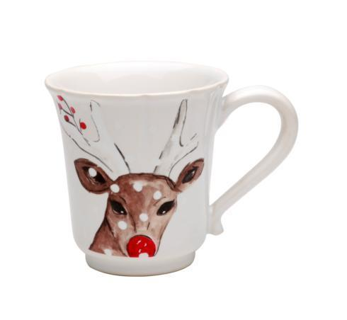 Casafina  Deer Friends Mug 12 oz. White $18.50
