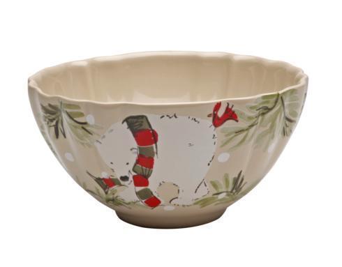 "Casafina  Deer Friends Soup/Cereal Bowl 6"" Linen $30.00"