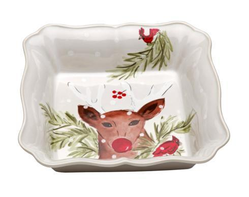 Casafina  Deer Friends Square Baker White $49.00