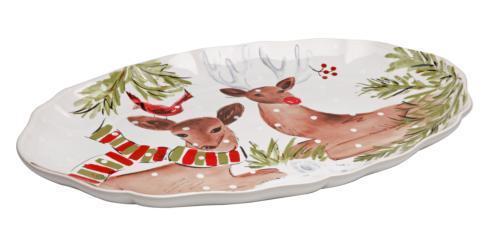 "Casafina  Deer Friends Oval Platter 20"" White $106.00"