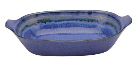 $82.00 Lg. Rect. Baker w/handles, Blue