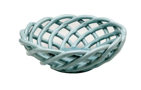 Casafina  Ceramic Baskets Medium Round Basket, Light Blue $52.75