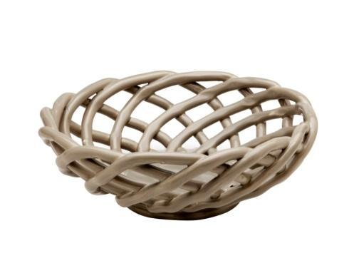 Casafina  Ceramic Baskets Medium Round Basket, Gray $52.75
