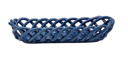 Casafina  Ceramic Baskets Baguette Basket, Blue $57.25