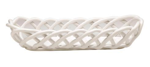 Casafina  Ceramic Baskets Baguette Basket, White $57.25