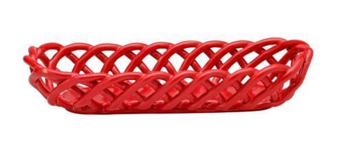 Casafina  Ceramic Baskets Baguette Basket, Red $57.25