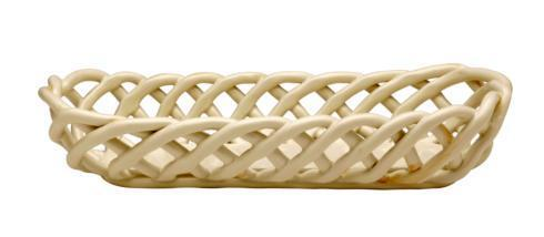 Casafina  Ceramic Baskets Baguette Basket, Cream $57.25