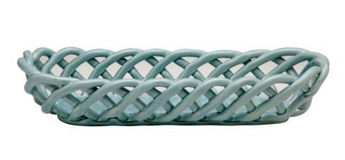 Casafina  Ceramic Baskets Baguette Basket, Light Blue $57.25