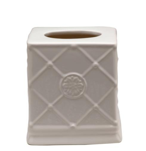 Casafina  Bath Collection - Meridian White Tissue Box Holder $35.25