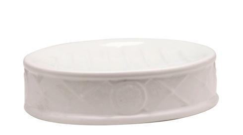 Casafina  Bath Collection - Meridian White Oval Soap Dish $19.75