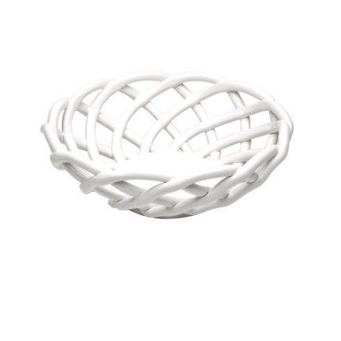 $53.00 Medium Round Basket, White