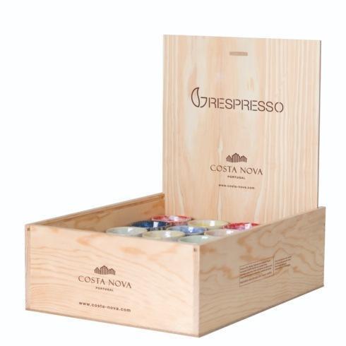 $416.00 Wooden Box 40 Espresso Cups