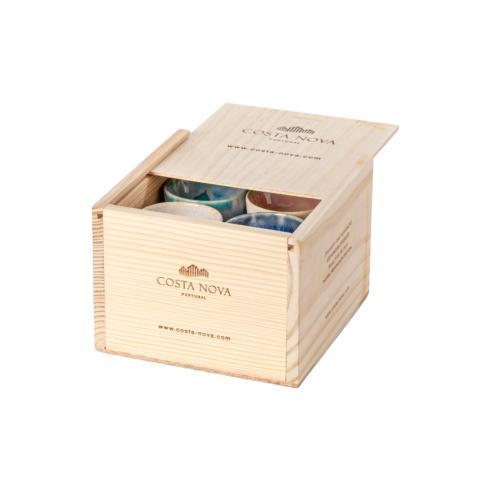 Costa Nova  Grespresso Gift Box Set 8 Espresso Cups Multicolor $92.50