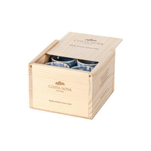 $89.00 Gift Box Set 8 Espresso Cups (Denim)