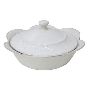 Casafina  Meridian - White Round Covered Casserole $115.00
