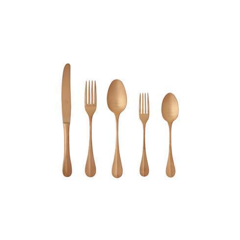 $81.00 Flatware 5 Pieces Brushed Copper