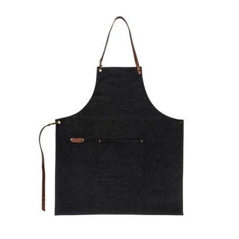 Costa Nova  Leather Collection Leather and Cotton Apron $95.00