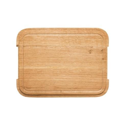 $39.00 Oak Wood Cutting Board/Lid for Rect. Tray 16""