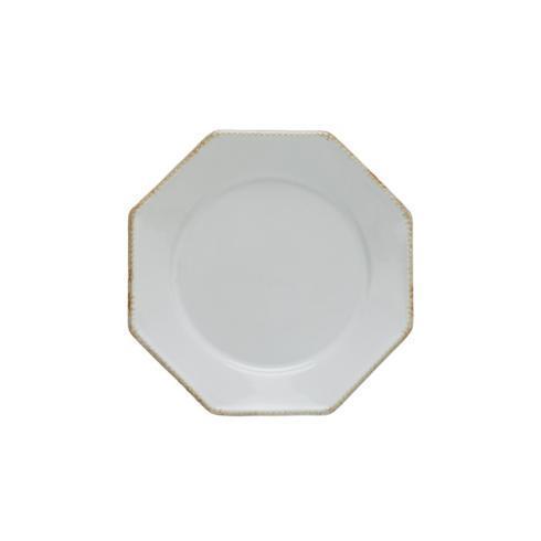 "Costa Nova  Luzia - Cloud White Oct. Salad/Dessert Plate 9"" $23.00"