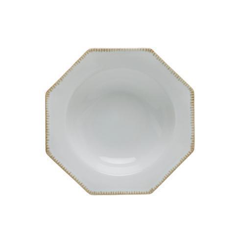 "Costa Nova  Luzia - Cloud White Oct. Soup/Pasta Plate 10"" $25.00"