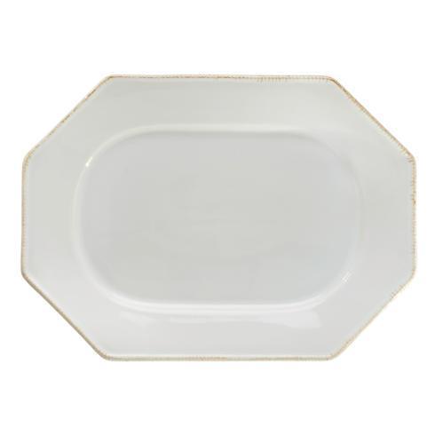 Costa Nova  Luzia -  Cloud White Oval Platter $69.00