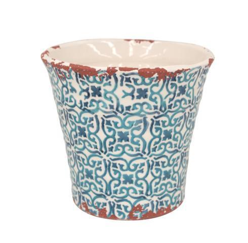 Casafina  Piastrella - Blue Medium Flowerpot $29.00