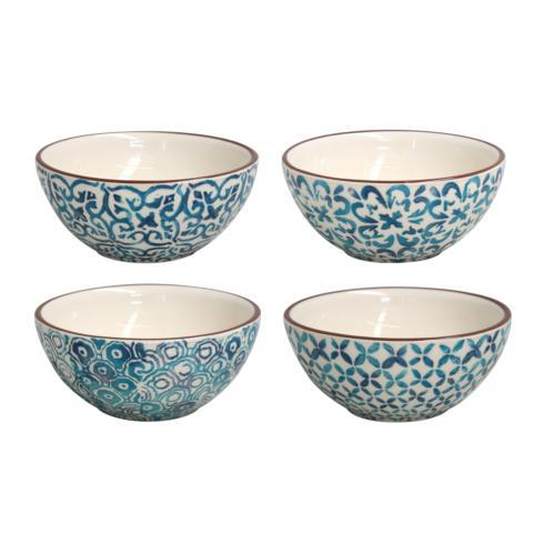 Casafina  Piastrella - Blue Set/4 Soup/Cereal Bowls $80.00