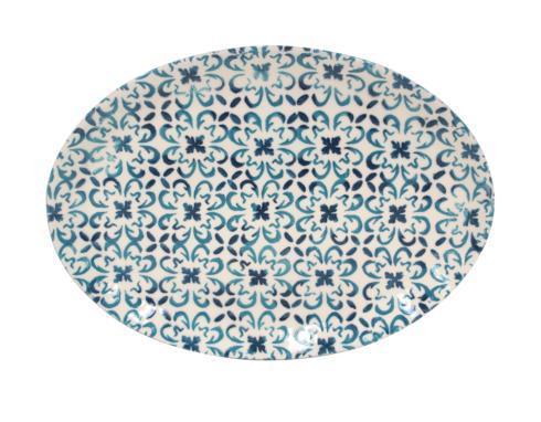 Casafina  Piastrella - Blue Medium Oval Platter $79.00