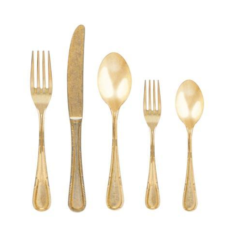 $358.00 Flatware 20 Pieces Gold Oxydé